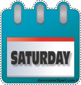 Saturday Calendar